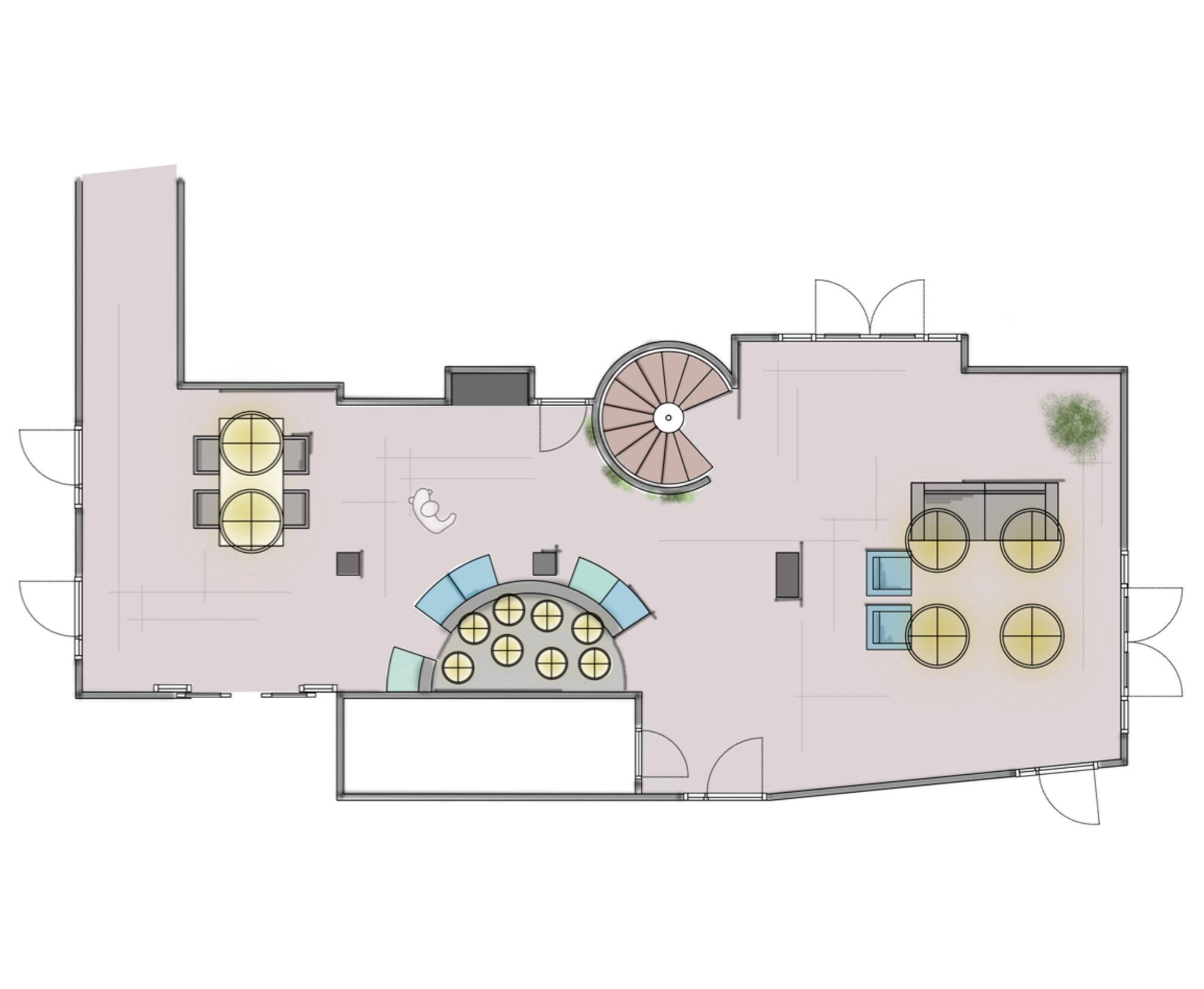 Een goed concept voor vastgoed concept ned interieurvormgeving - Eigentijdse entreehal ...